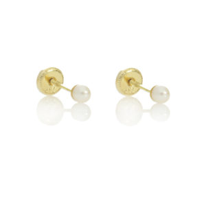 18ctyel gold very small pearl earrings £29 7207040_2