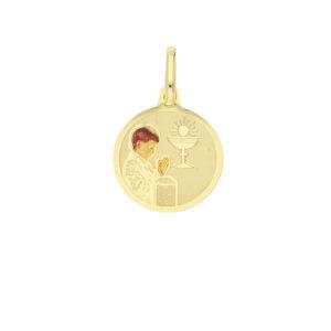 Comunion medal boy enamel round £59 7902028_