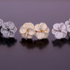 A wide range of silver earrings ranging from small to large.