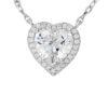 Heart silver pendant, 23-03027 £41