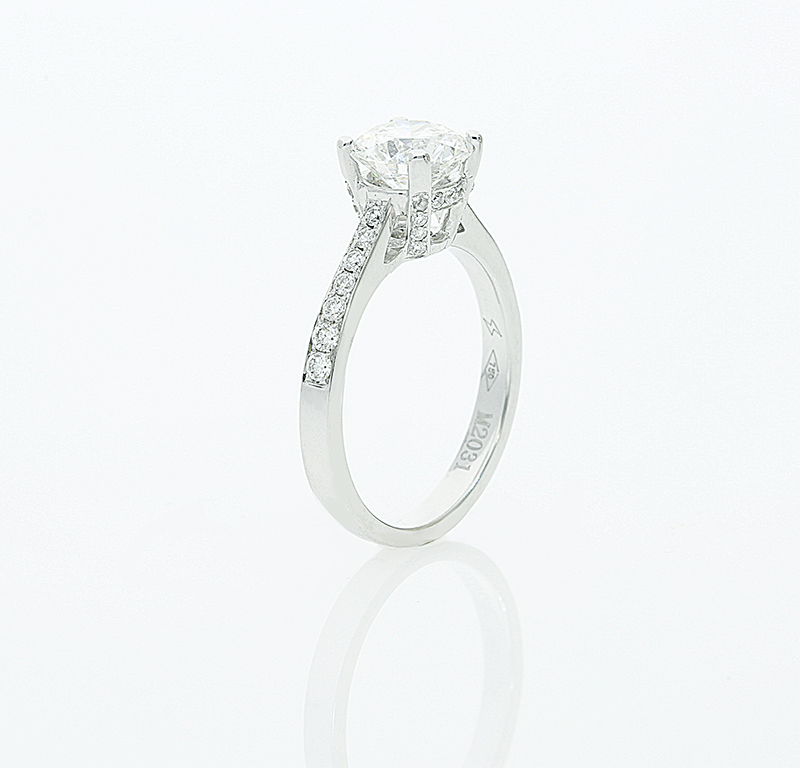 A beautiful 1 51ct certified diamond set in an 18ct white gold
